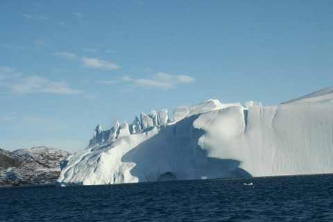 Large berg in the ice fjord