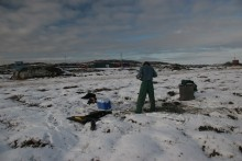 permafrost core sampling 2.5 meters