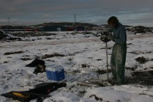 permafrost core sampling 3 meters