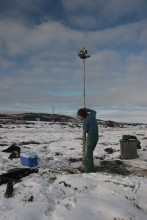 permafrost core sampling 3.5 meters
